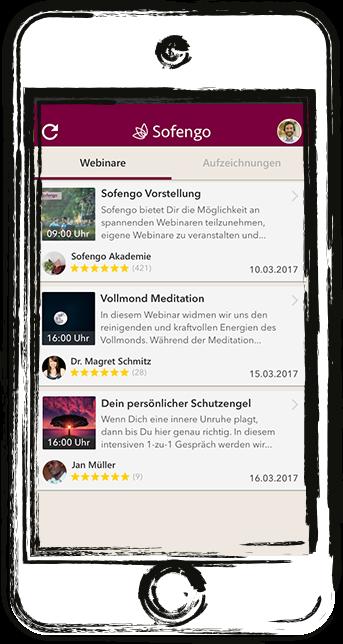 Sofengo app mobile phone